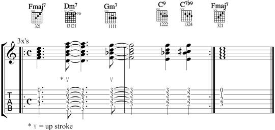 jazz guitar comping