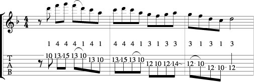 D minor Pentatonic Lick 2