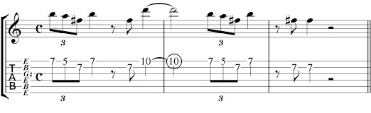 slide guitar lick tab