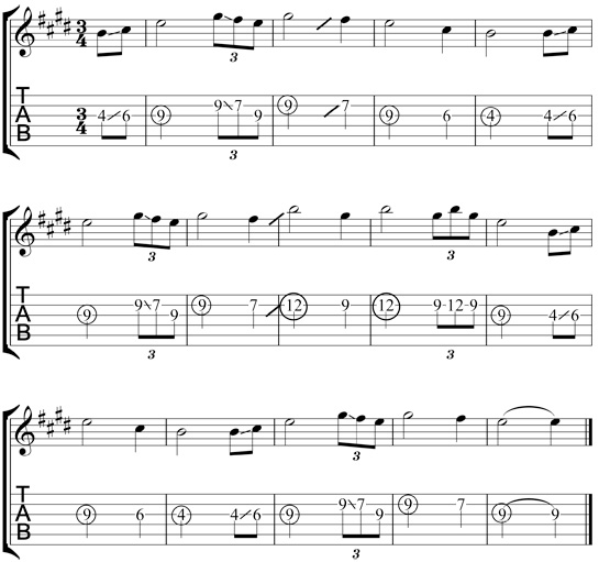 Free Slide Guitar Tab for Amazing Grace