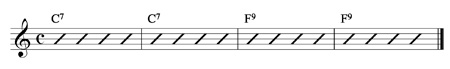 C7 F9 Guitar Chord Progression