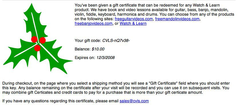 can you can print out and give to the recipient or you can forward the email itself to them