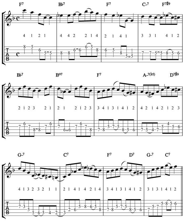 solo jazz guitar arrangements pdf
