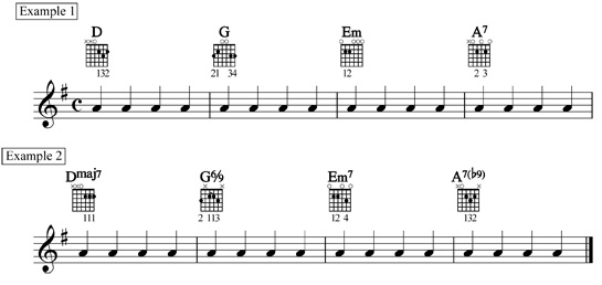 simple chord substitutes