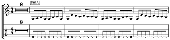 metal guitar rhythm riff