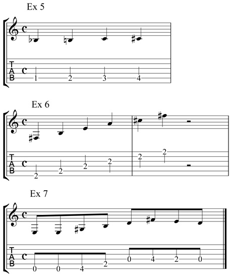 guitar tablature examples